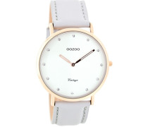 Vintage Braun/Weiß Uhr C7777 ( mm)