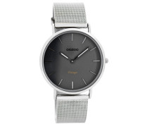 Vintage Uhr Silber/Grau C7729 ( mm)