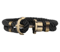 PHREPS Gold/Black Nylon Anchor Armband PH-PH-N-B-M (18.00 cm)