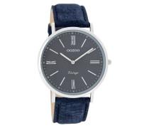 Vintage Uhr Blau C7356