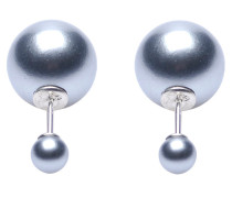 Double Dots Dark Grey Pearl Ohrringe 11025