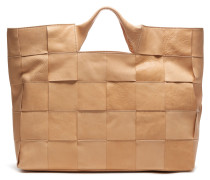 Smooth Leather Large Sand Handtas 213020005
