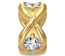 White Infinity Ocean Gold Charm 51351-5