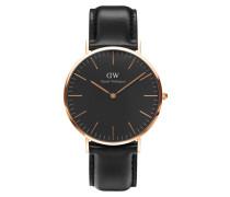 Classic Black Sheffield Uhr ( MM) DW00100127