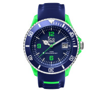 Ice-Sporty Blue/Green Big Uhr SR.3H.BGN.BB.S.15