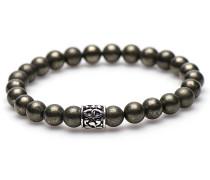 Pyrite Silver Bead Armband 86557 (Länge: 20 cm)