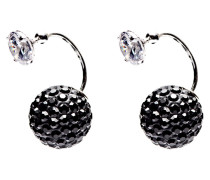 Double Dots Twisted Black Ohrringe 11216