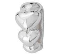 Slide Mini 5 Hearts Charm JS043