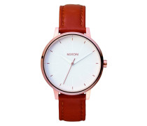 The Kensington Leather Rose Gold/White Uhr A108-1045