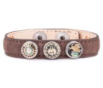 Brown Wrap Bracelet Petite Classic Skinny-Peafowl XWPCS-9050-14-S