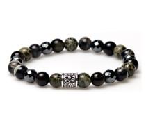 The Matrix Silver Stone Bead Armband 86398