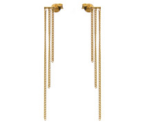 Triple Chain Earstuds Silver Goldplated Ohrringe M1307