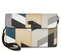 Veronica Khaki/Blue Clutch PBN126037
