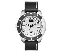 1969 Superstar Black Leather Uhr ADH3037