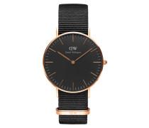 Classic Black Cornwall Uhr DW00100150 ( mm)