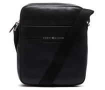 Smooth Leather Slim Black Schultertasche AM0AM026342