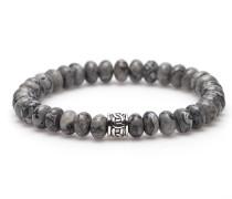 Oval Crazy Silver Bead Armband 86495 (Länge: 20 cm)