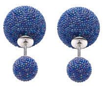 Double Dots Coral Blue Mini Spike Ohrringe 11182
