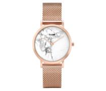 La Roche Petite Mesh Rose Gold/White Marble  mm Uhr CL40107