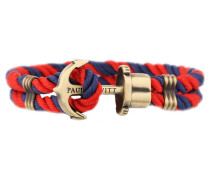 PHREPS Gold/Navy/Red Nylon Anchor Armband PH-PH-N-NR-L