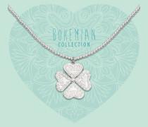 Bohemian Beads Flower Kette BO285CLO17S (Länge: 40-44 cm)