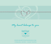 Entwined Hearts Silver Armband B218ENH15S