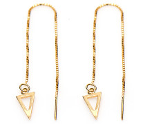 Pull Through Triangle Silver Goldplated Ohrringe M1835