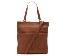 Buffed Leather Cognac Schultertasche 2820100013027-M