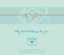 Entwined Hearts Gold Armband B218ENH15G