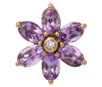 Big Amethyst Flower Gold Charm 25950