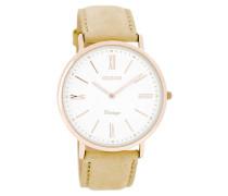 Vintage Uhr Beige/Weiss C7350