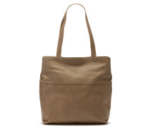 Polished Leather Taupe Schultertasche 2830100013045-L