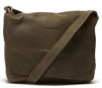 Shabbies Suede Taupe Schultertasche 2320200023030-M