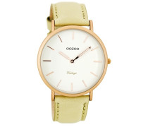 Vintage Uhr Beige/Weiß C7734 ( mm)