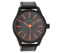 Timepieces Schwarz/Orange Uhr C7429