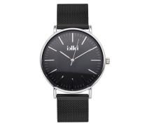 Noah Silber/Schwarz Uhr NA-04
