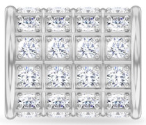 White Infinity Glow Silver Charm 41551