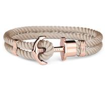 Phreps Anchor Rose Gold Nylon Hazelnut Armband PH-PH-N-R-H (Länge: 20.00 cm)