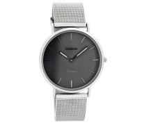 Vintage Uhr Silber/Grau C7729 (36 mm)