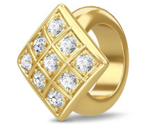 Sparkling Cubes Gold Charm 1586