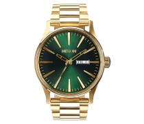The Sentry SS Gold Green Sunray Uhr A3561919