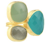 Gold Trio Gem Forest Green Ring 5121-R-5276