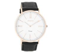 Vintage Uhr Schwarz/Weiss C7347