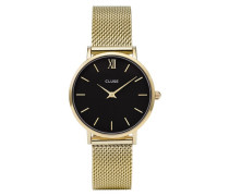 Minuit Mesh Gold/Black Uhr CL30012