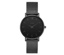 Minuit Mesh Full Black Uhr CL30011