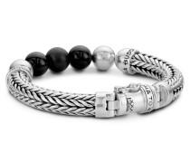 632ON Ellen Onyx Beads Armband