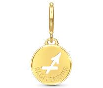 Sagittarius Zodiac Coin Gold Charm 53346-9