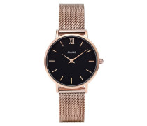 Minuit Mesh Rose Gold/Black Uhr CL30016