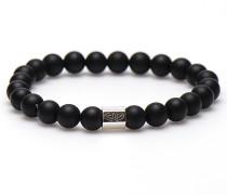 Black to Black Silver Bead Armband 86567 (Länge: 20 cm)