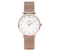 Minuit Mesh Rose Gold/White Uhr CL30013